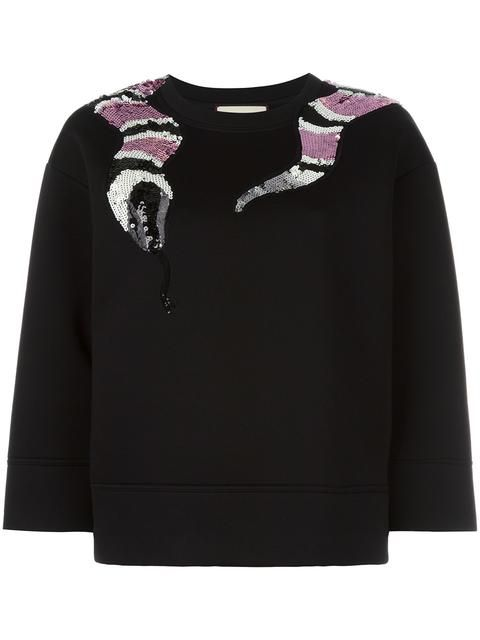 2a21b27be08 Shop Gucci sequin snake sweatshirt . | Sweaters in 2019 | Gucci ...