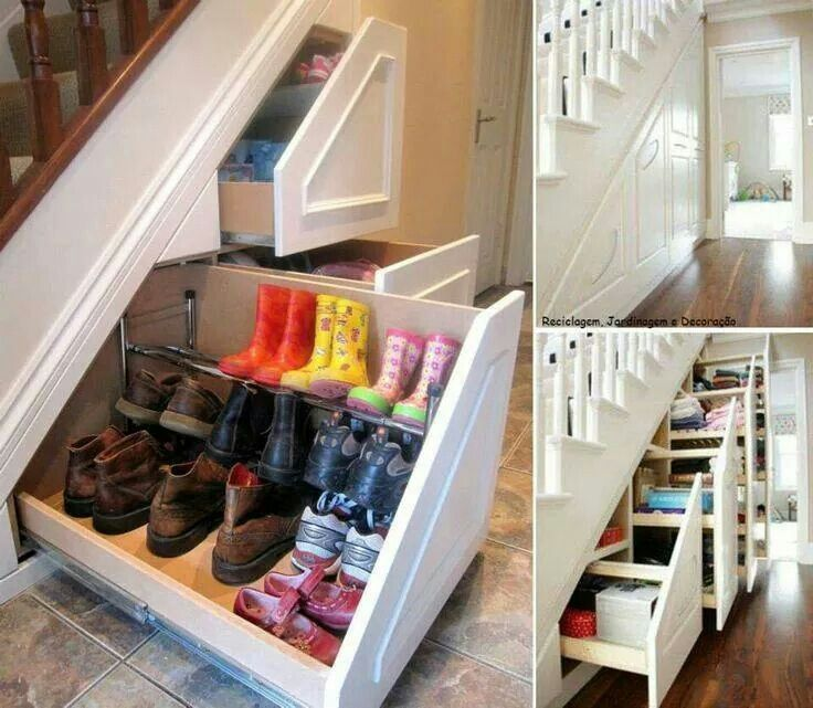Cloakroom Under Stairs Shoe Storage