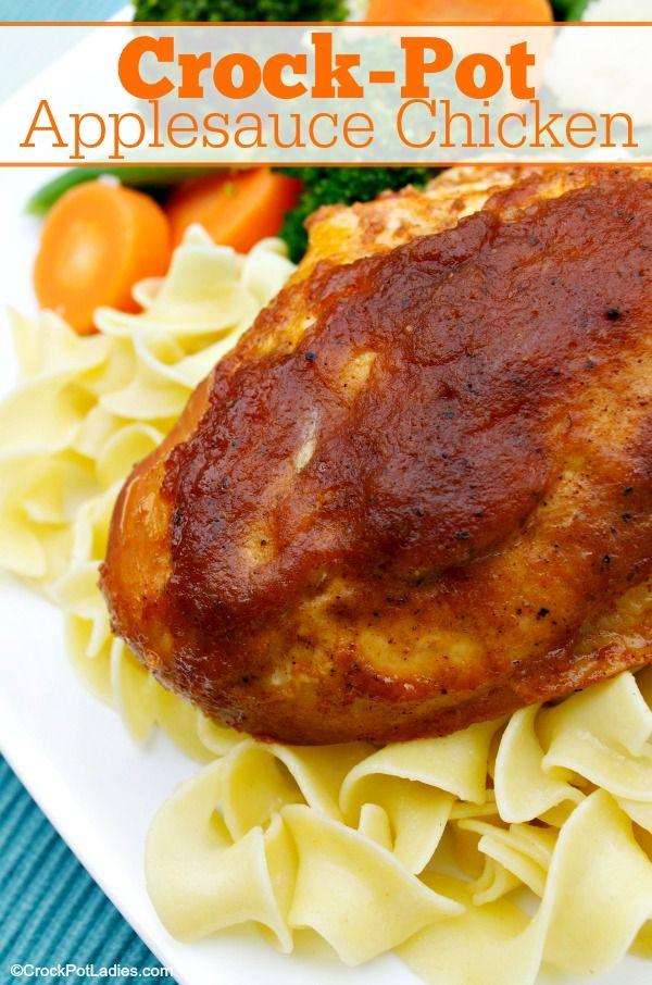 Crock Pot Applesauce Chicken Recipe Chicken Recipes Food