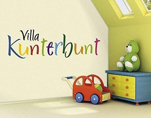 Wandtattoo Villa Kunterbund ♥ Spruch Mit Vielen Bunten Buchstaben ♥  Kinderzimmer U0026 Babyzimmer ♥ Verschiedene Größen ♥ Kostenloser Versand Nach  DE