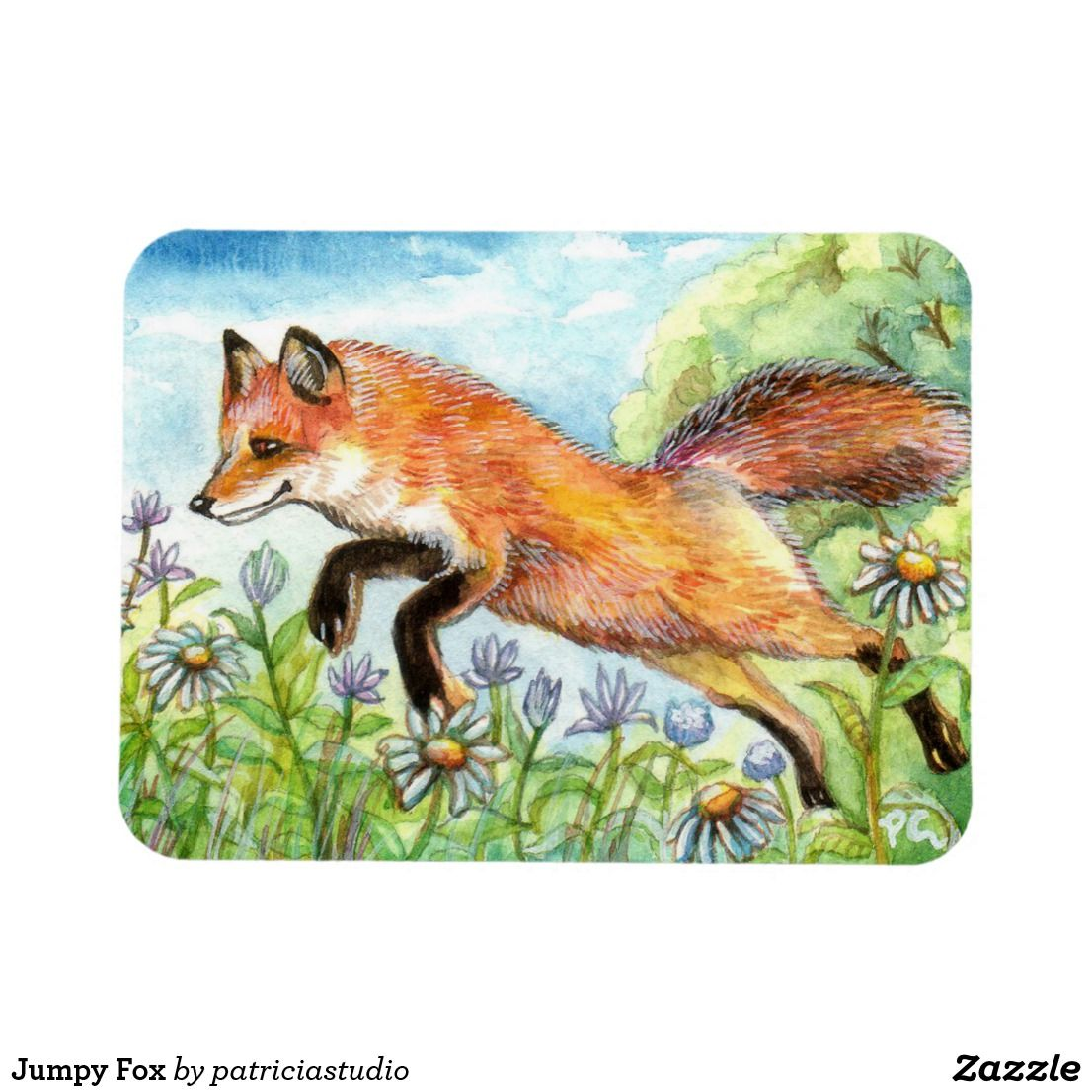 "ACEO LE Art Card Print 2.5x3.5/"" /"" Fox Resting With Sparrow /"" Art by Patricia"