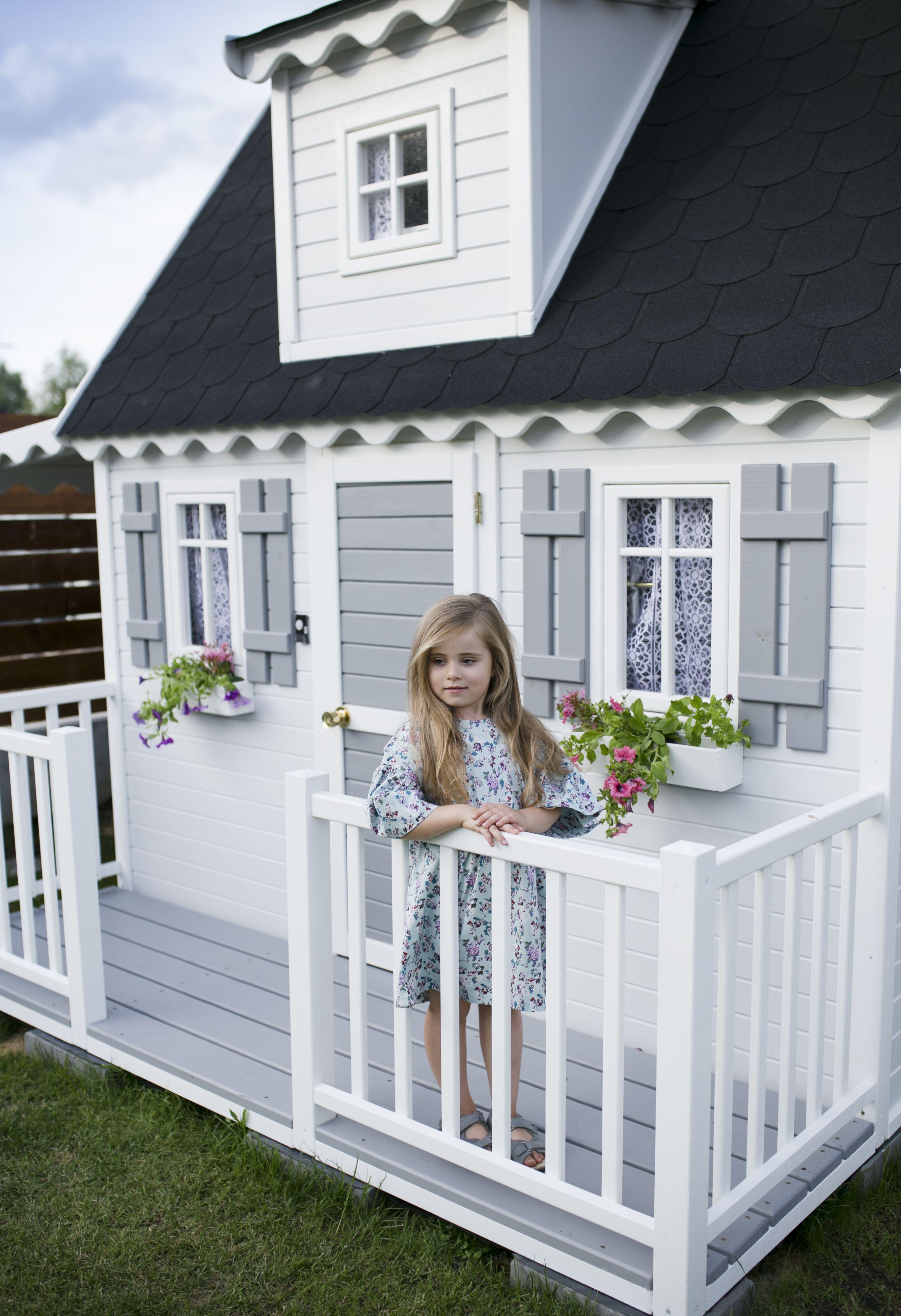 Drewniane domki dla dzieci piękne Makóweczki