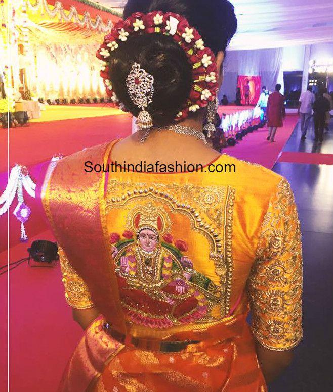 Hand Embroidered Wedding Saree Blouse Photo Flowers Pinterest