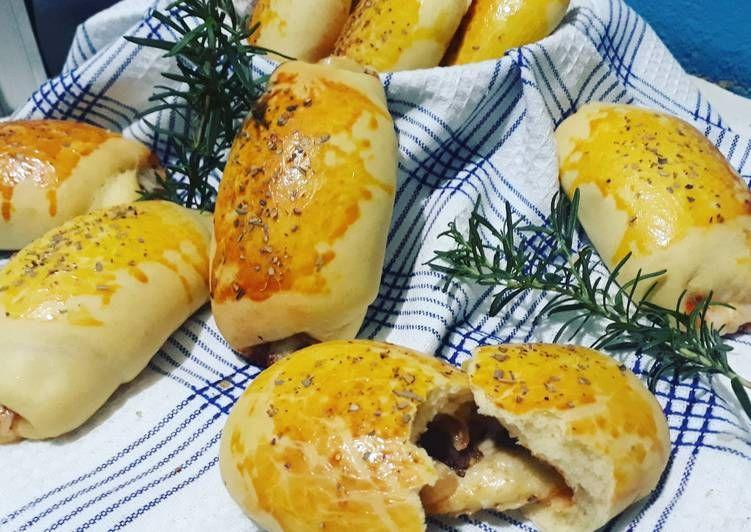 Resep Roti Manis Isi Daging Ala Pizza Oleh Mbok Dyn Resep Makanan Pembuat Roti Resep