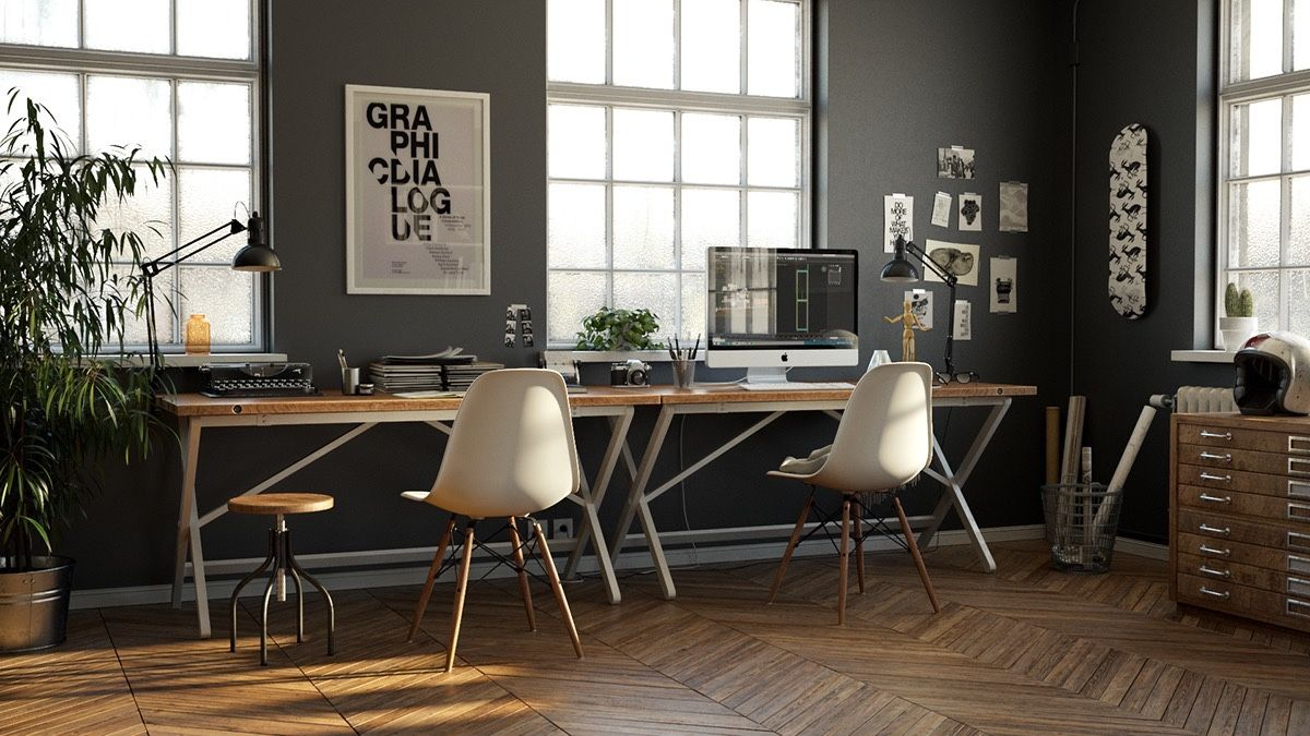 26 Stunning Scandinavian Workspaces Industrial Home Offices