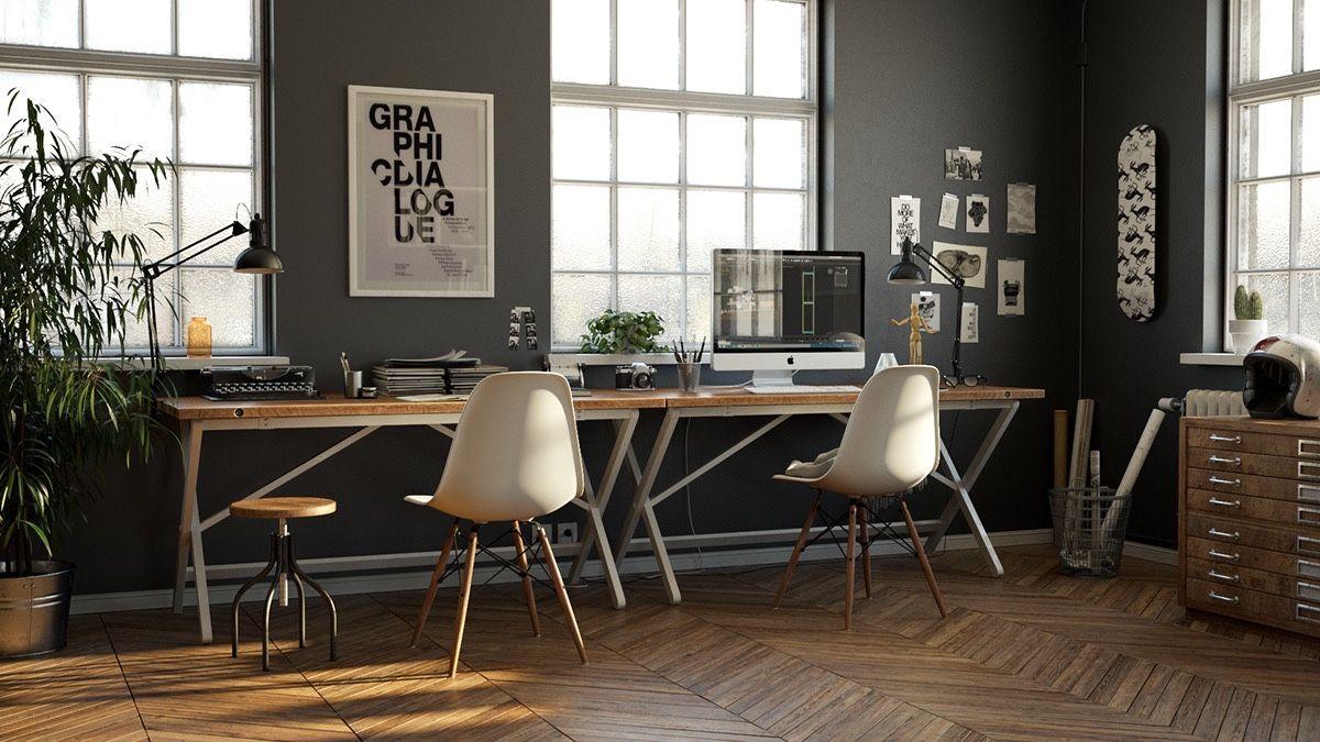 26 Stunning Scandinavian Workspaces Industrial Home Offices Industrial Workspace Industrial Interior Design