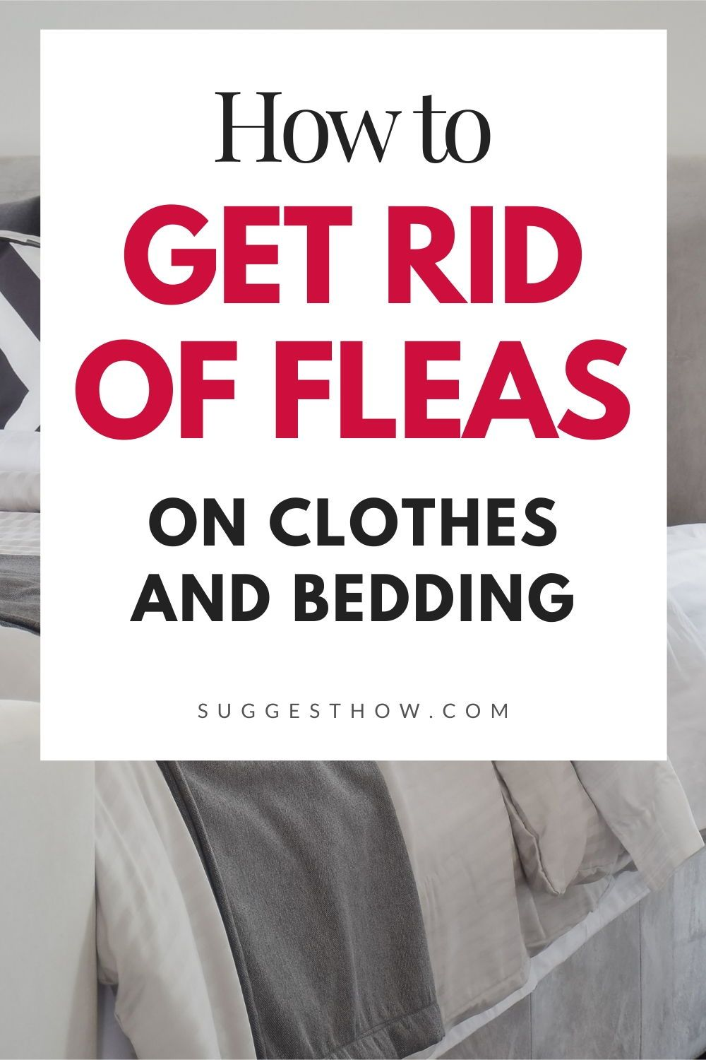 How To Get Rid Of Fleas On Clothes And Bedding In 2020 How To Get Rid Fleas How To Get