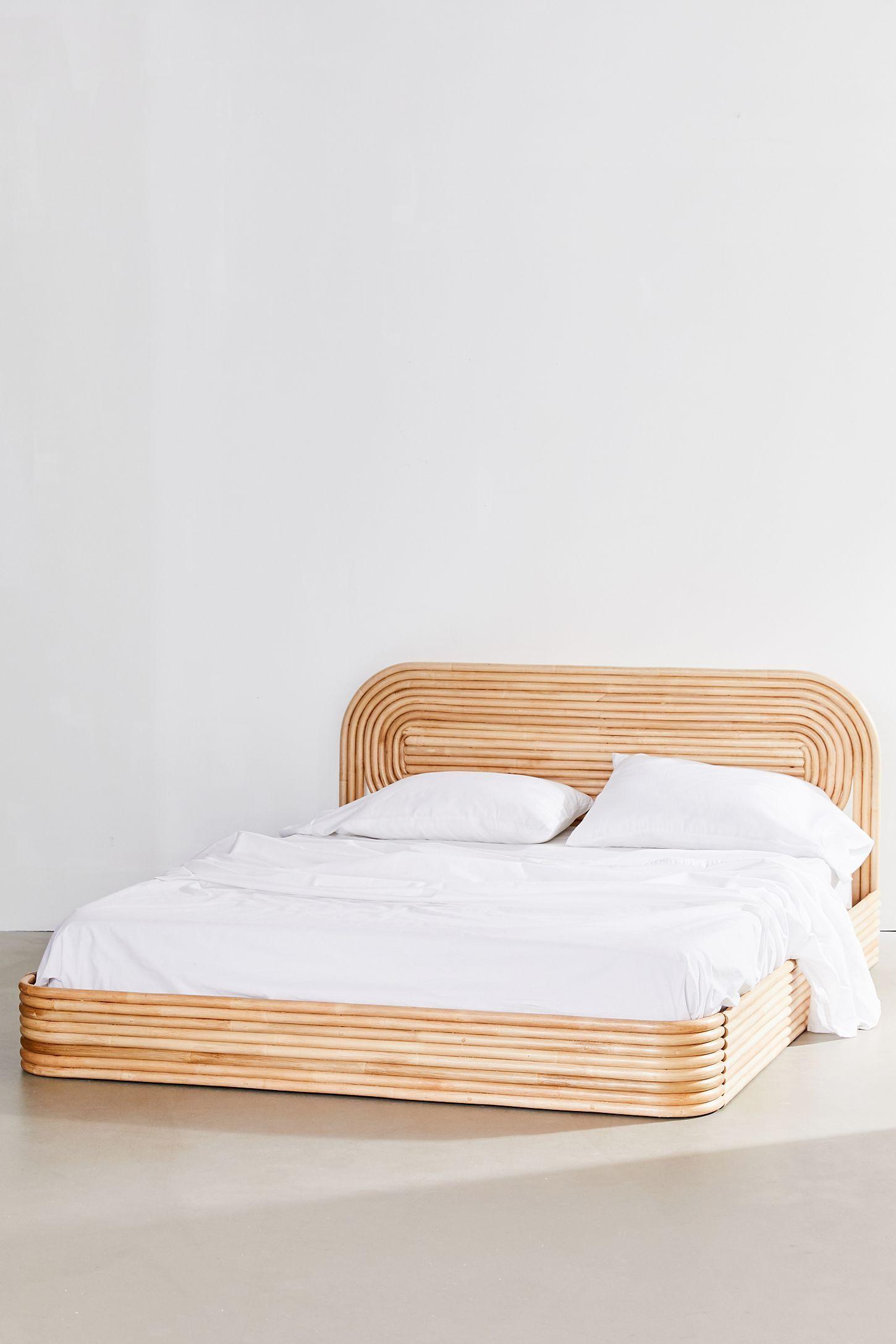 Ria Rattan Bed   Rattan bed, Rattan bed frame, Boho bed frame