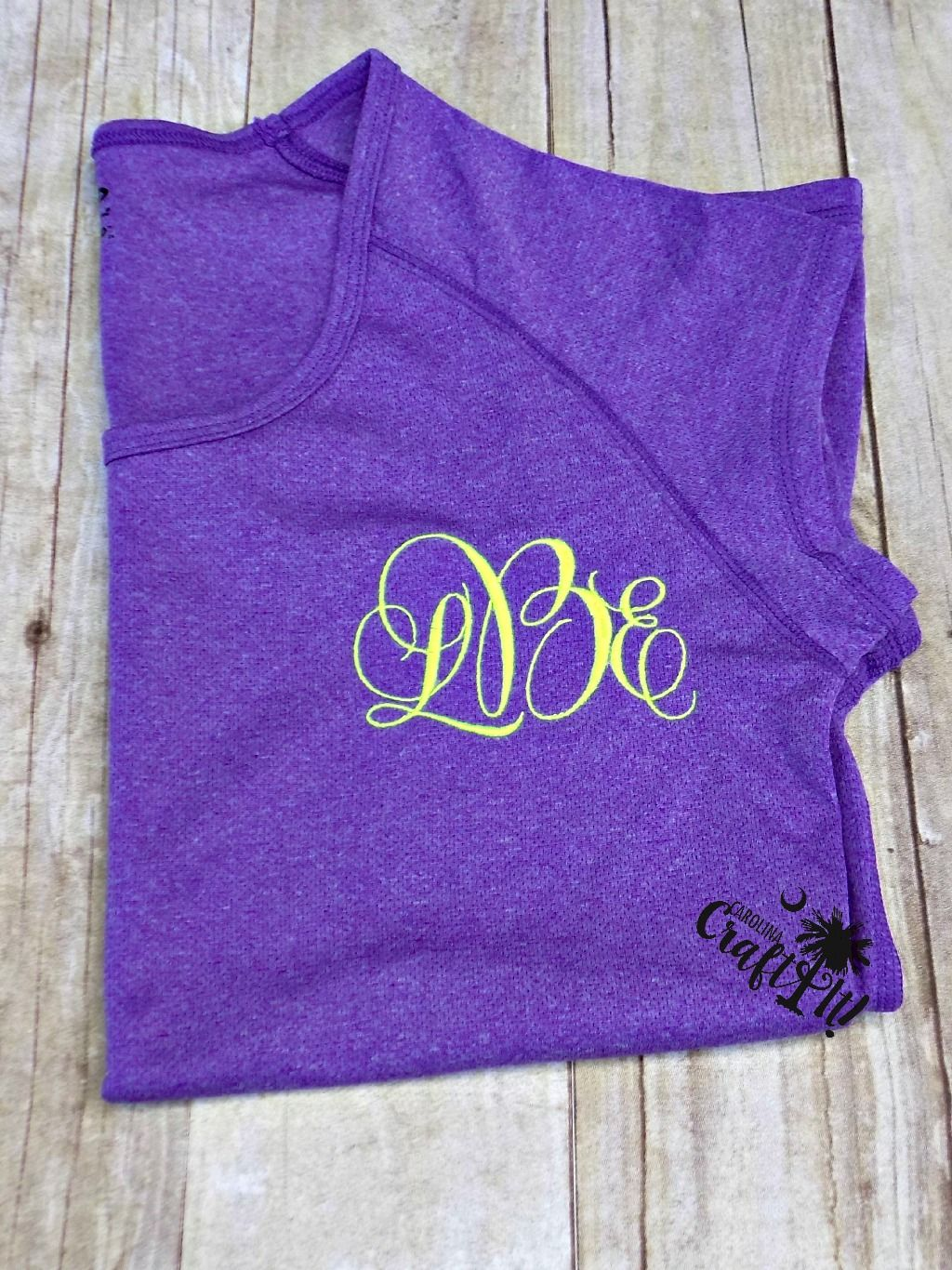 Monograms on your favorite work out gear!