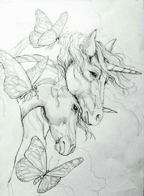 Pin by Marsha Hopkins on drawing | Unicorn drawing ...