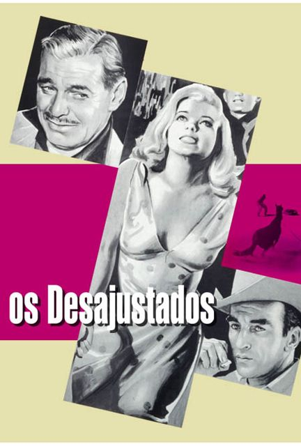 The Misfits | Portuguese movie poster, 1961.