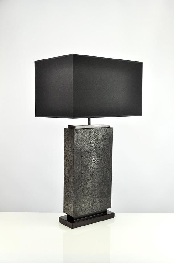 Ginger Brown Accueil Shagreen Furniture Lamp Table Lamp