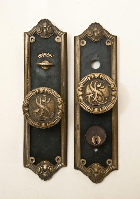 Antique Hotel La Salle, Chicago Door Knob Set Entry Doors - Antique Hotel La Salle, Chicago Door Knob Set Entry Doors