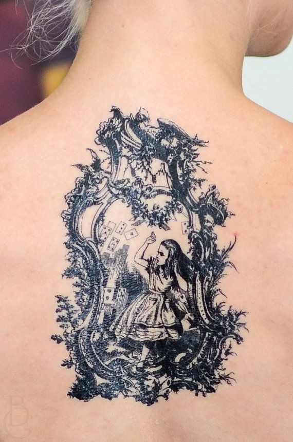 Antique Alice in Wonderland Tattoo by SeventhSkin | omg this is great! the aiw illustrations are so pretty ugh what a nice idea