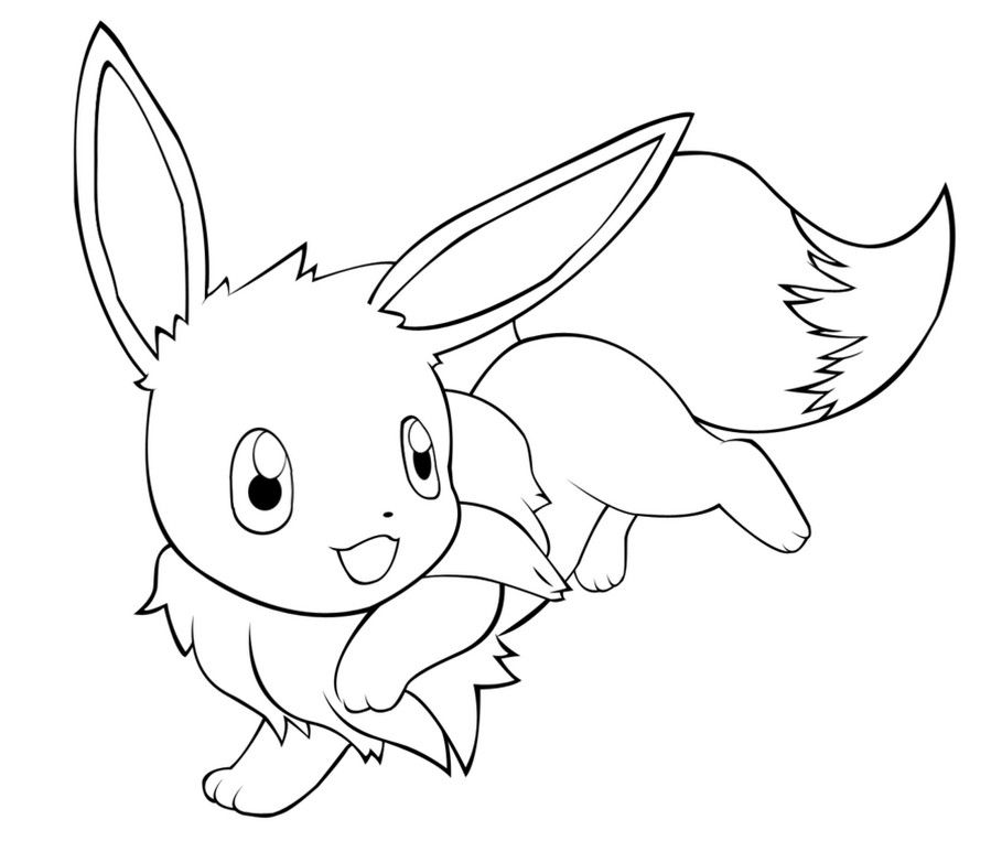 Kawaii Eevee Coloring Pages In 2020 Pokemon Coloring Pokemon Coloring Pages Horse Coloring Pages