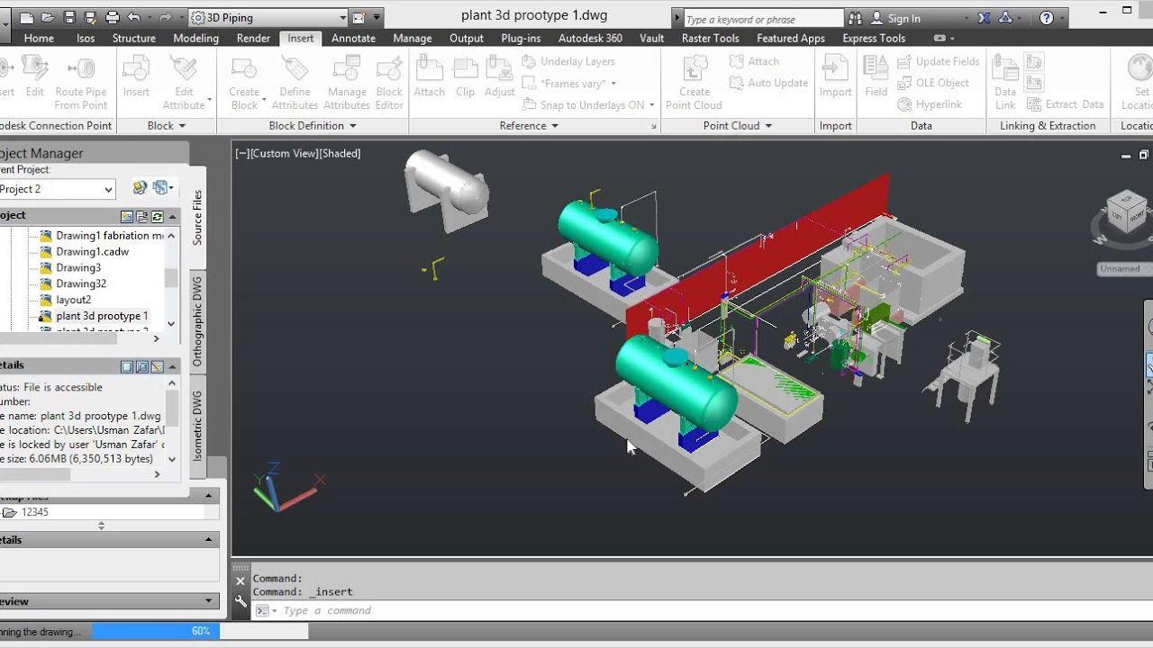 How To Insert Cadworx 3d Equipment To Autocad Plant 3d Autocad Plant Design Plants