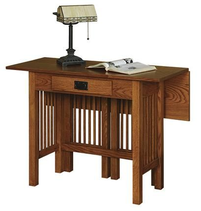 Amish Console Arts And Crafts Drop Leaf Table