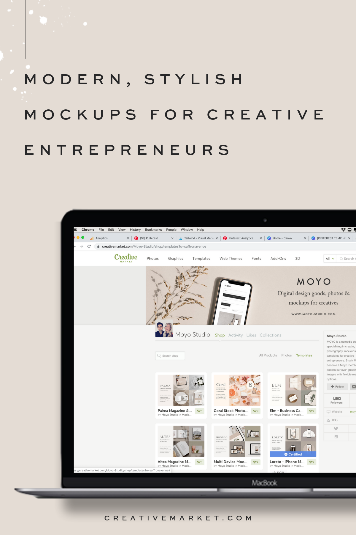 Creative Market Is My Favorite Place To Find Gorgeous Stylish Minimal Mock Ups For Websites And Social Med Website Inspiration Web Design Projects Web Themes