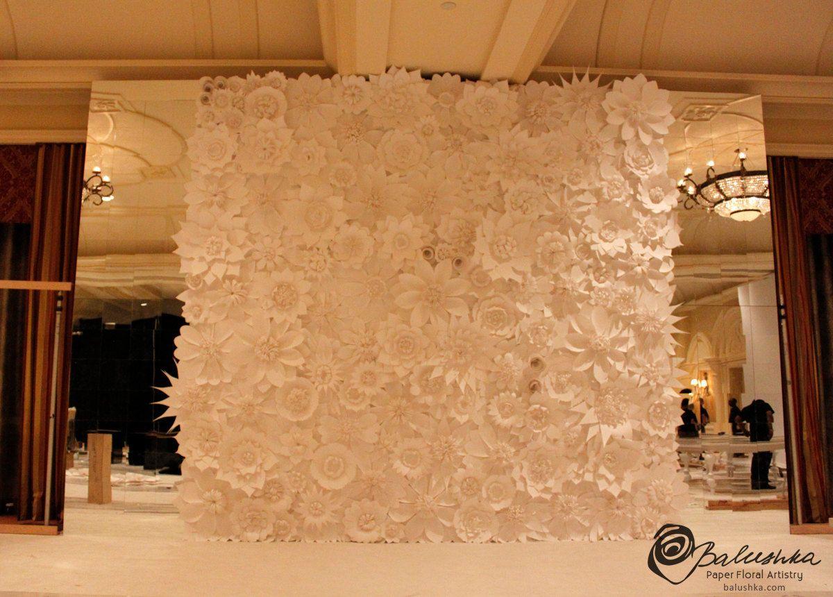 Stunning Paper Flower Backdrop For Weddings 6ft By 5ft Balushka