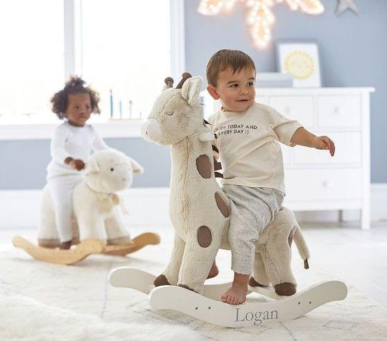 Lamb Plush Nursery Rocker In 2020 Pottery Barn Kids