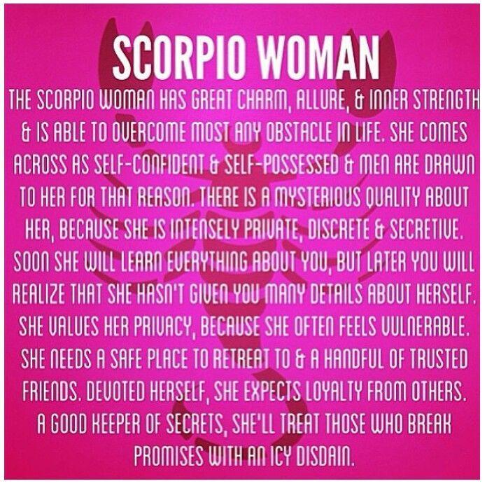 The scorpio woman personality