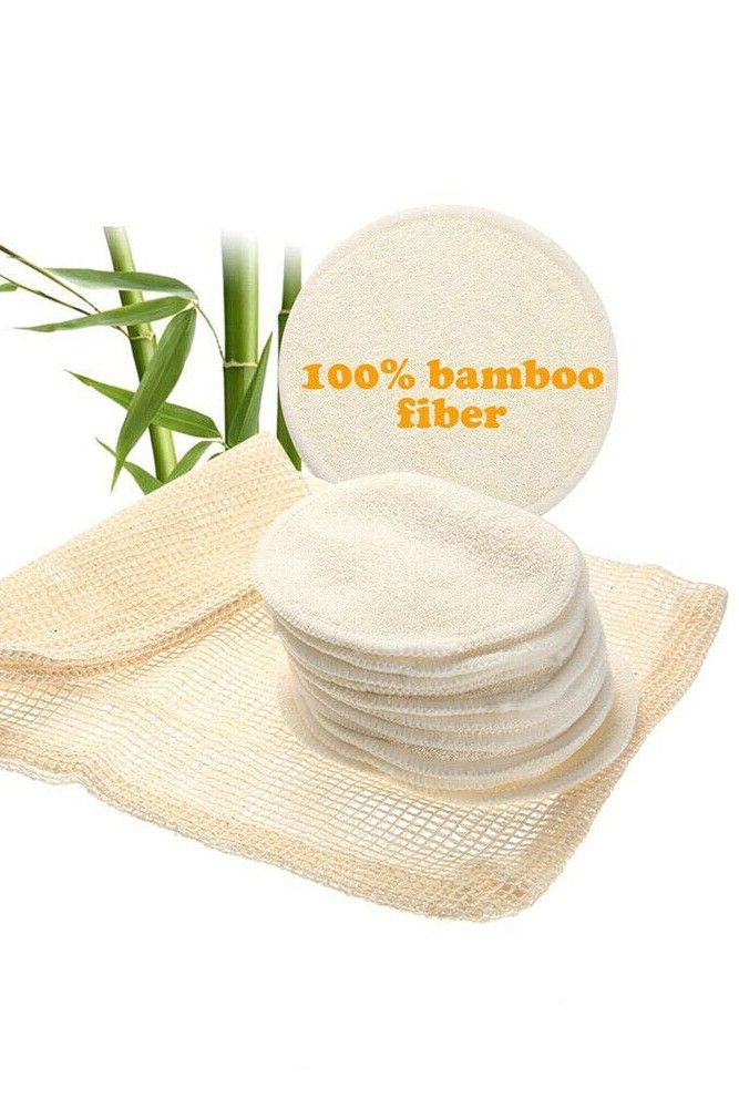 Reusable Bamboo Makeup Remover Made of high quality material soft surface nontoxic and comfortable to use Washable so that you can use next time very ecofriendly Compact...