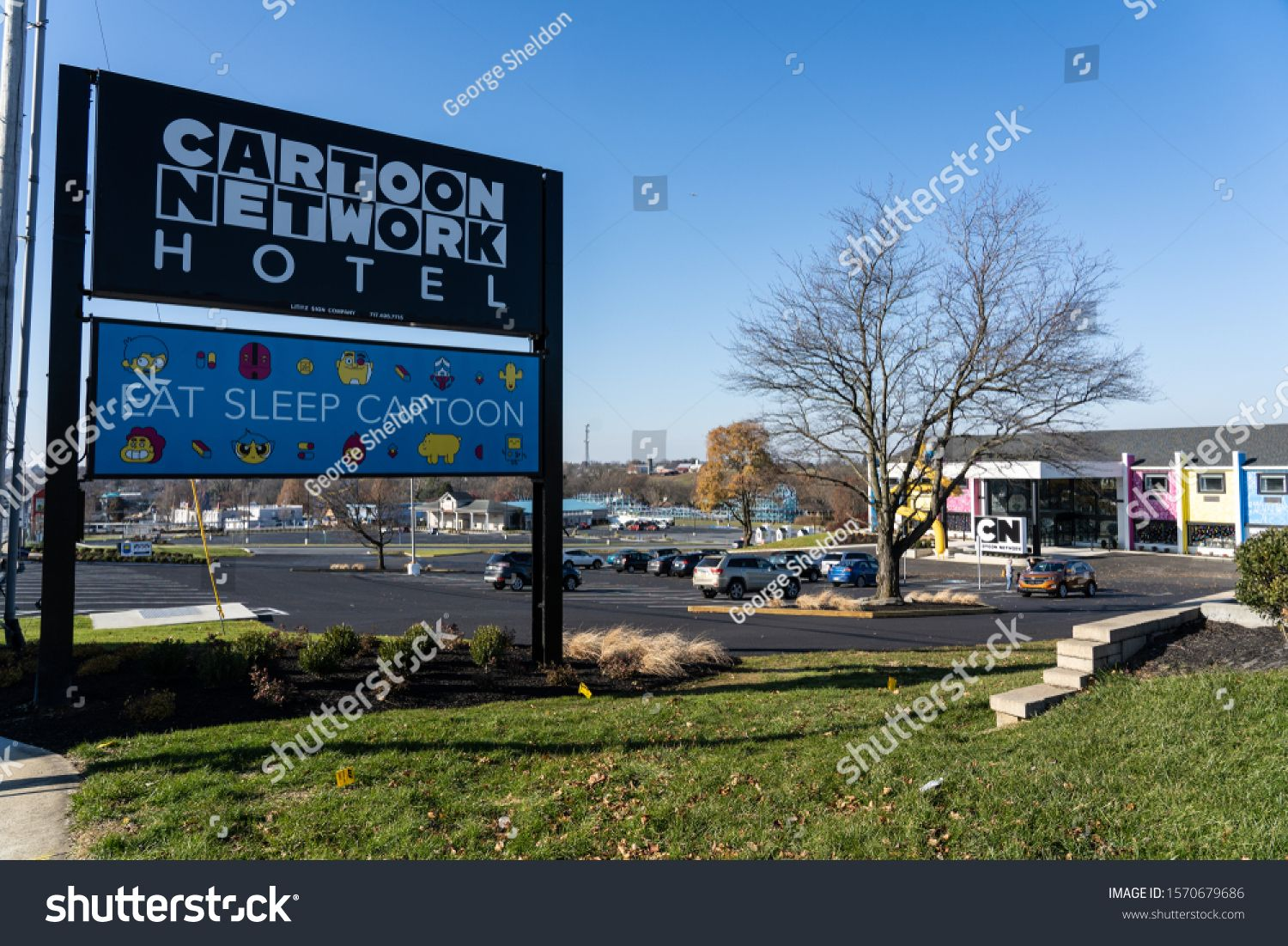 Lancaster Pa Usa November 25 2019 The Cartoon Network Hotel