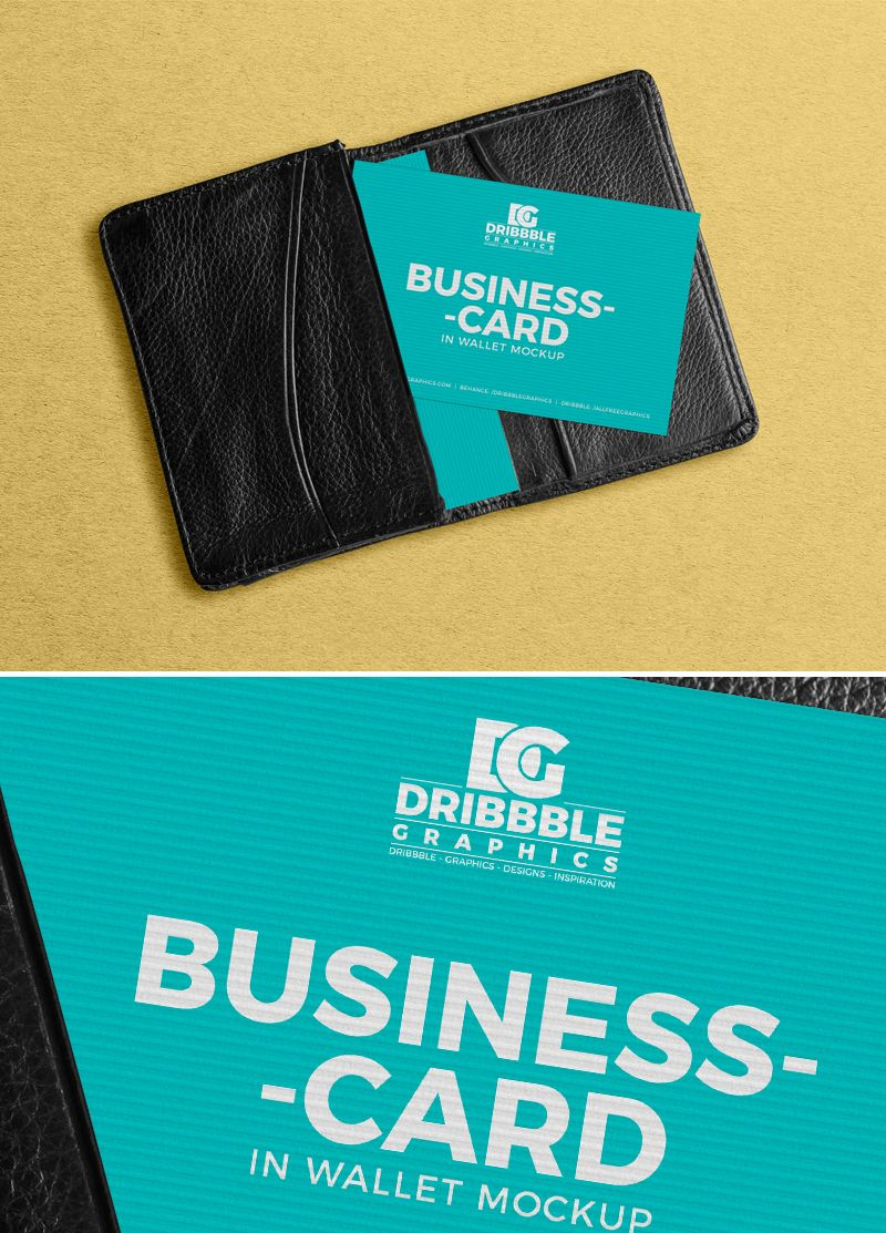 Free Business Card In Wallet Mockup Free Business Cards Business Card Inspiration Business Cards