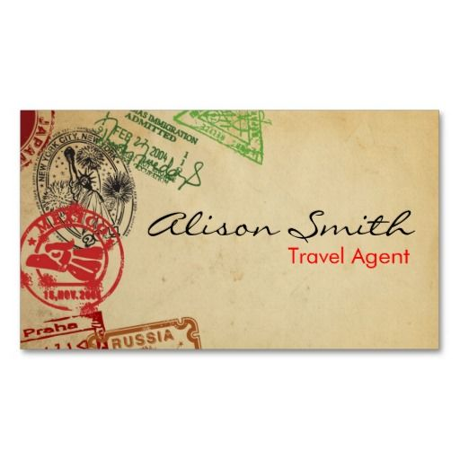 Love This Idea For A Business Card Travel Agent So Fun Memorable