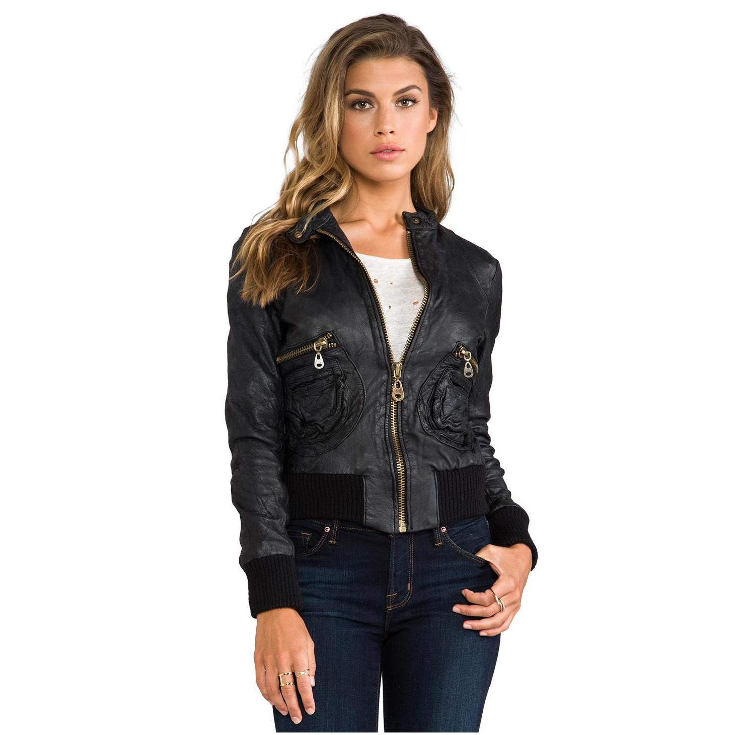women Leather Bomber Jackets....Leathernxg.com | Leather Bomber ...