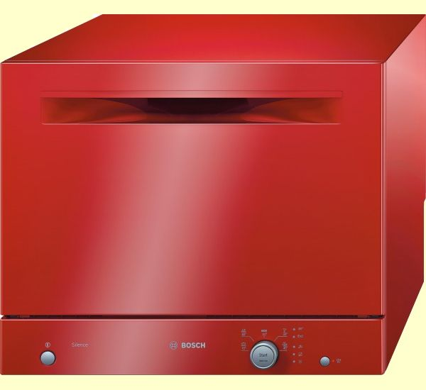 Bosch SKS50E01EU Red Table Top Dishwasher Compact