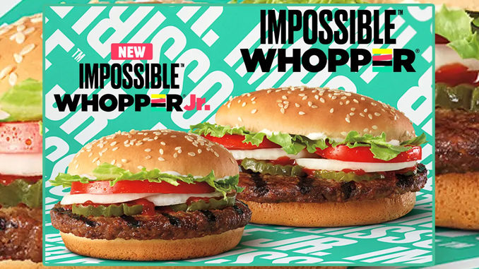 Burger King Tests New Impossible Whopper Jr Impossible Burger And Impossible Cheeseburger Impossible Burger Burger Meatless Burgers