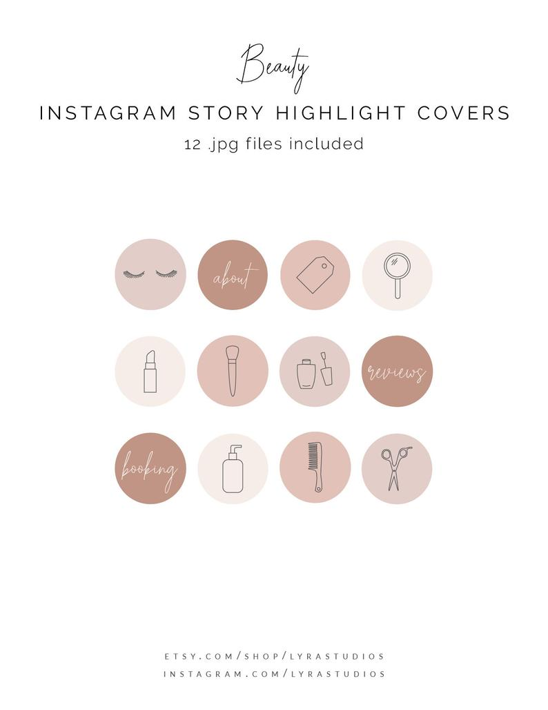 Beauty Instagram Highlight Covers Hairstylist Icons Line Etsy In 2020 Instagram Icons Beauty Icons Instagram Highlight Icons