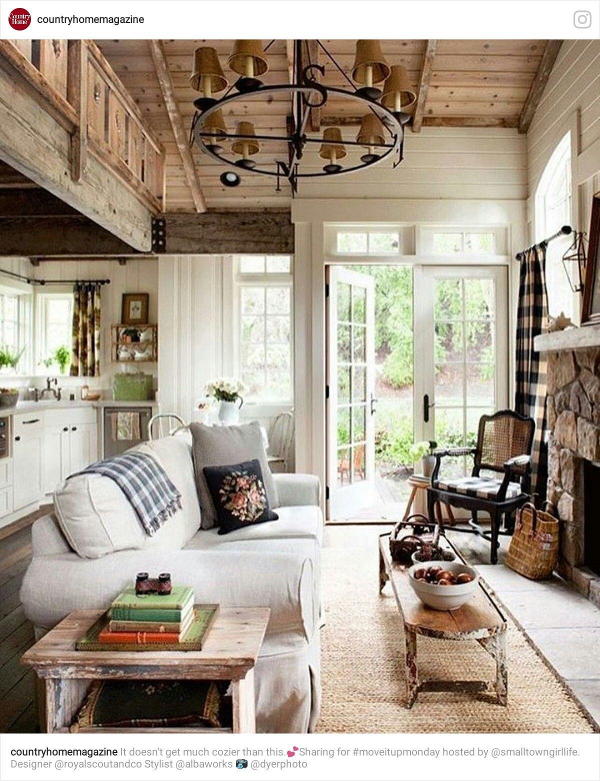 pin by ivana skvorc on dream house rustic cottage cottage living rooms cottage interiors. Black Bedroom Furniture Sets. Home Design Ideas
