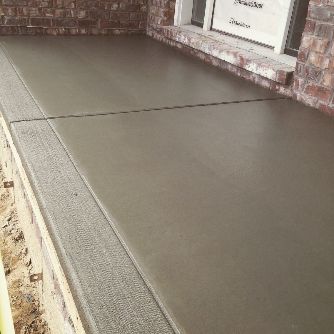 Front Porch Beautiful Porch Cap With A Broom Finish Border! Great For Your  Home And Outdoor Space . NewEraConcrete Provides A Concrete Flatwork From  Your ...