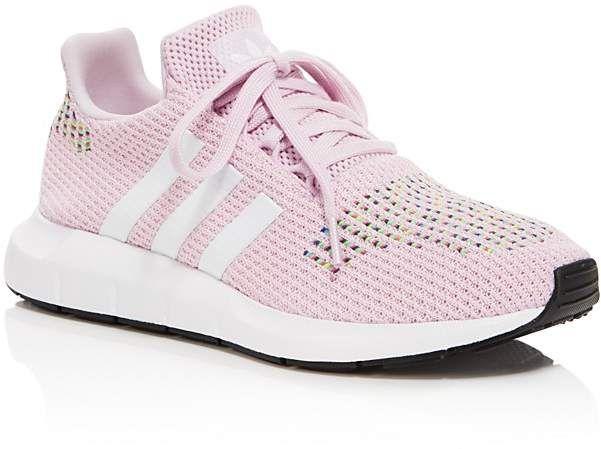 adidas women's swift run knit lace up sneakers