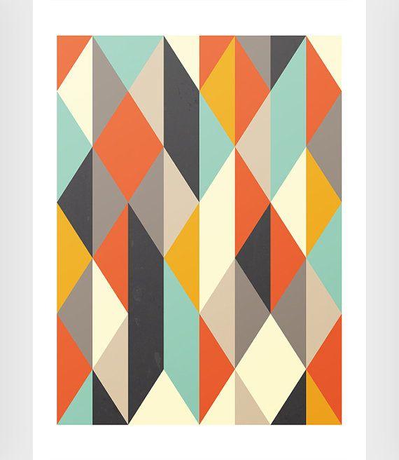 Scandinavian Art Print Mid Century Modern Geometric Print Minimalist Art Abstract Art Print W Scandinavian Art Print Geometric Art Prints Geometric Poster