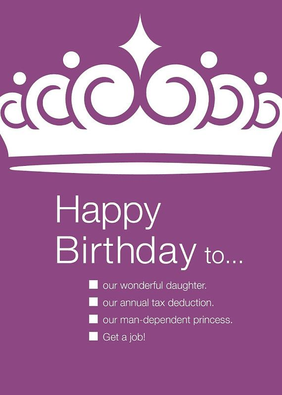 Funny Birthday Card To Daughter By Udecideproducts On Etsy 3 95 Funny Birthday Pictures Funny Birthday Cards Birthday Cards