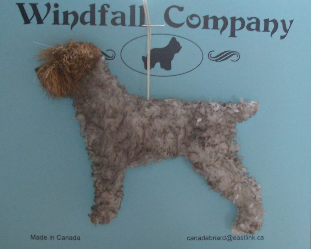 Wire Haired Pointing Griffon Dog Plush Christmas Canine Ornament # 1 ...