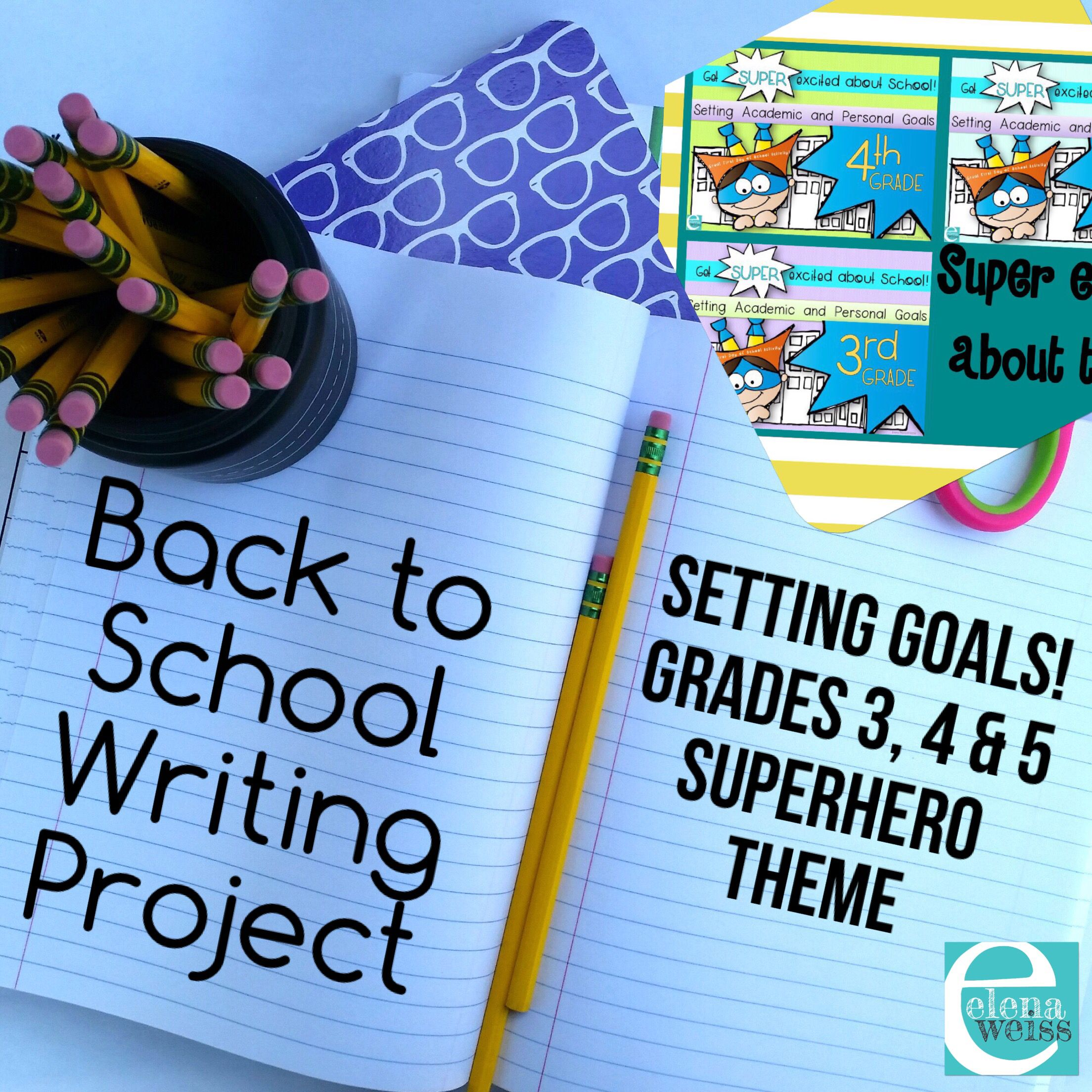 Writing projects perfect for the first week of school Encourage