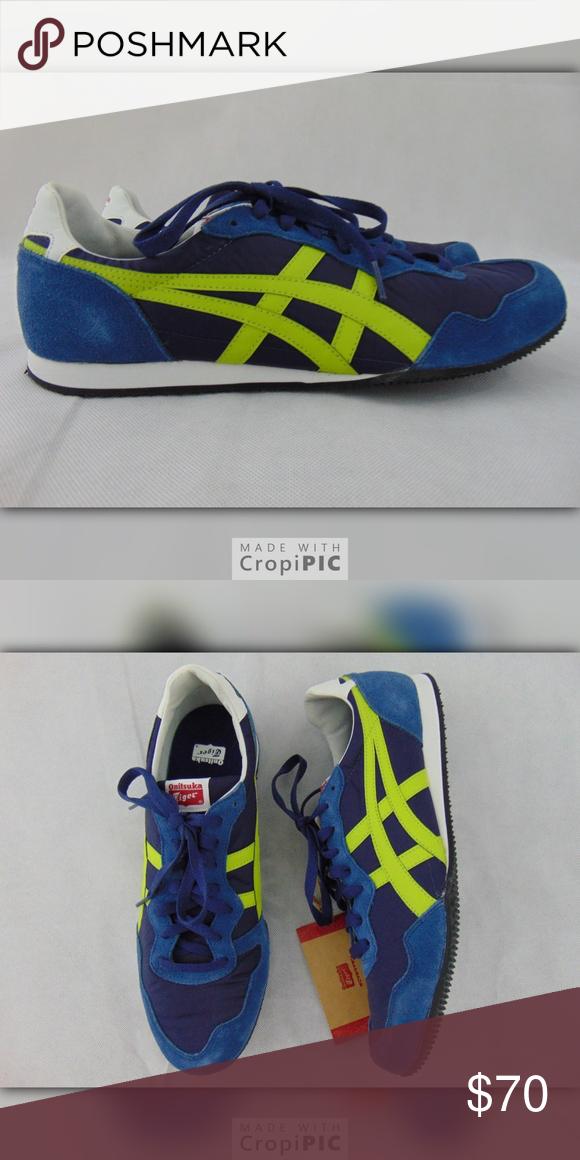 6fca57514a30 Onitsuka Tiger Serrano Blue Green 11.5 New Mens Onitsuka Tiger Men s Serrano  Athletic Suede Sneaker Blue