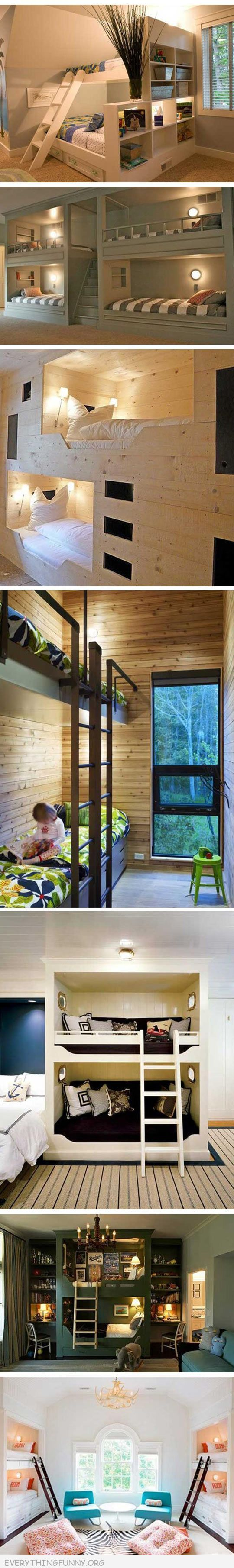 Built in loft bed ideas  funny awesome bunk beds ideas  DIY house stuff  Pinterest