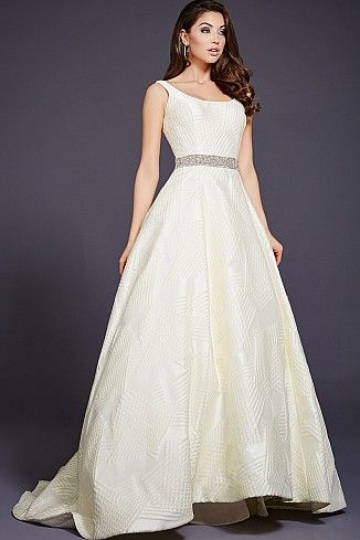 White A-Line Evening Dress 35321 | bridal party gowns | Pinterest ...