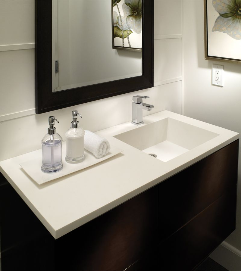 42 Counter With Right Hand Bowl Petra Counter Sinks Available With Center Bowl Offset Left Or R 48 Inch Bathroom Vanity Bathroom Vanity Bathroom Sink Vanity