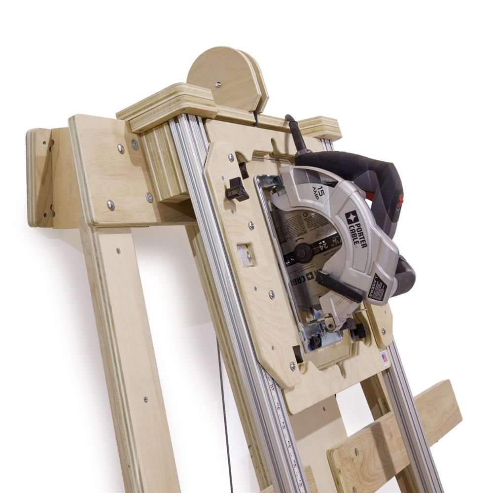 Saw Wall Mount Box : Panel saw woodworking plan deluxe kit wall