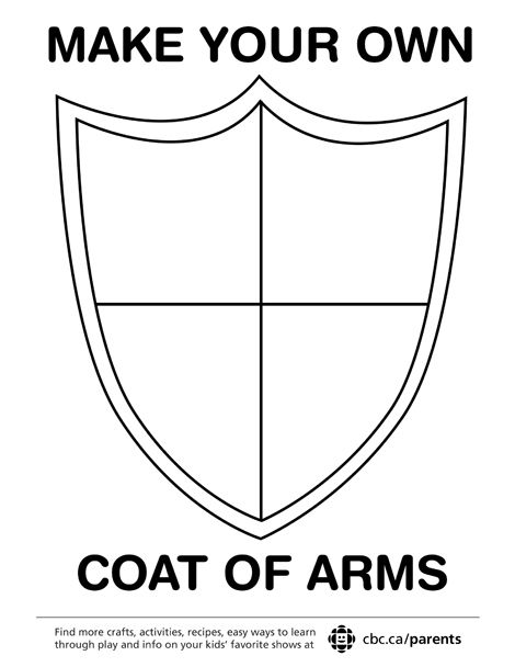Make Your Own Coat Of Arms  Symbols Printing And Medieval