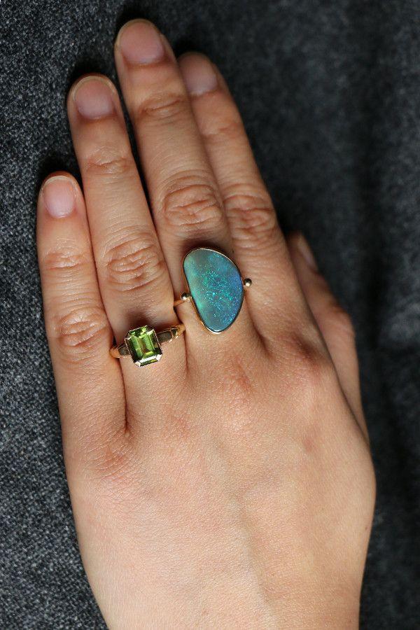 B.C.E. Jewelry Large Australian Opal Ring