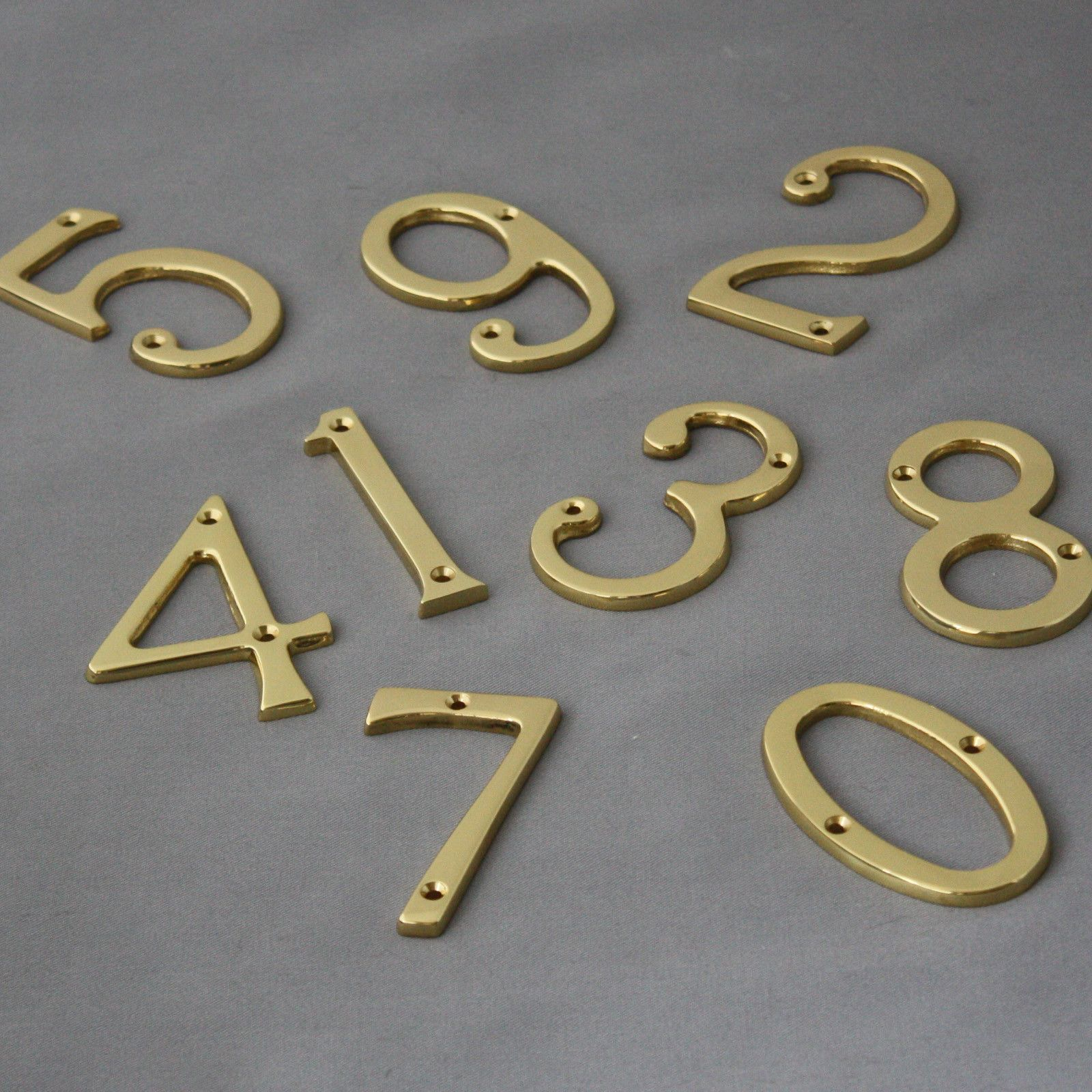 Traditional Brass Front Door Numerals - Architectural Decor & Traditional Brass Front Door Numerals | Front doors Front door ...
