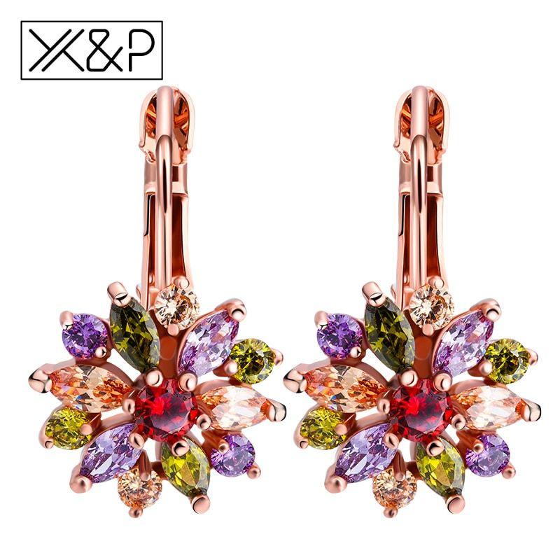 4 Pairs Clear Black Boho Rhinestone Earrings Set Crystal Stud Drop Womens Ladies