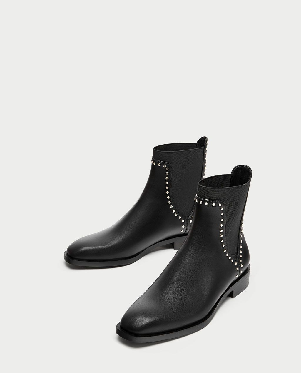 361fe10678e 🎁FLAT ANKLE BOOTS WITH STUDS-NEW IN-TRF | ZARA United Kingdom ...